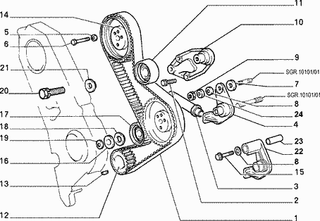 ford 2 0 timing belt diagram
